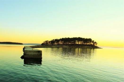 island sunset sky  Free Photo