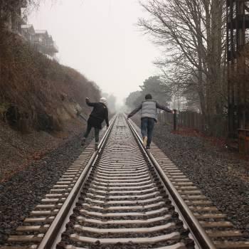 people train tracks railroad  #17957