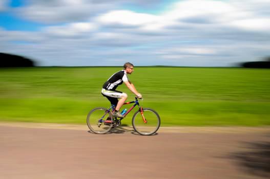 cyclist bike bicycle  Free Photo