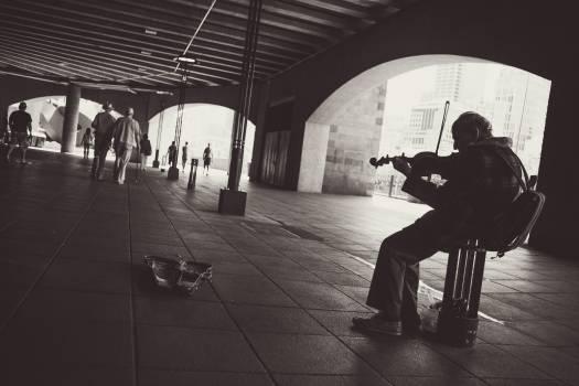 street performer musician violin  #17965