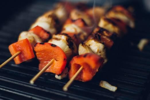 kabob skewers meat  #17966