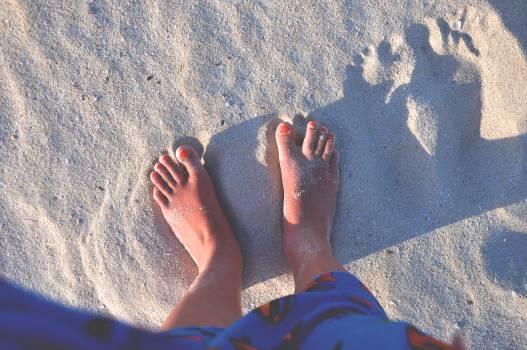 feet toes sand  Free Photo