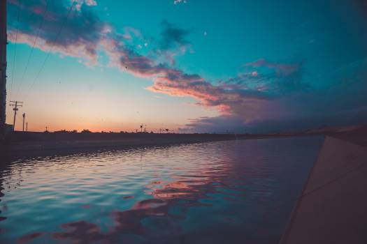 sunset dusk sky  #18003