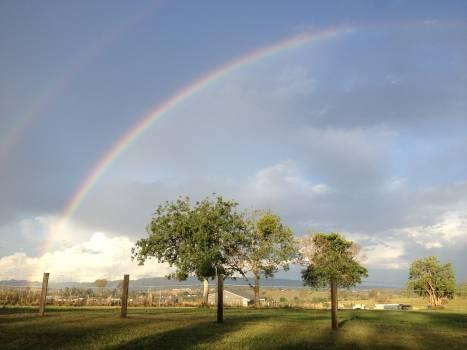 Bow Rainbow Sky Free Photo