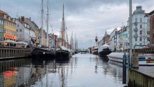 copenhagen boats river  #18058