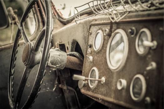 car steering wheel dashboard  Free Photo