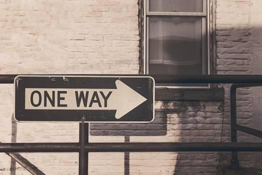 one way sign bricks  #18104
