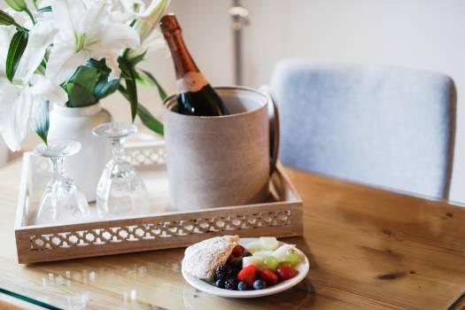 champagne dessert fruits  #18107