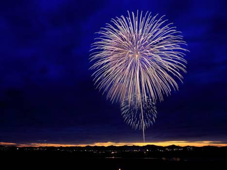 fireworks night sky  #18115