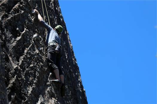 rock climbing sports guy  #18129