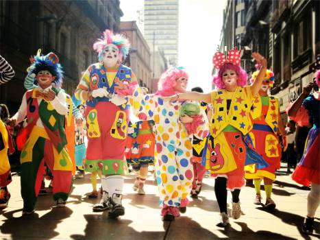 clowns parade people  #18152