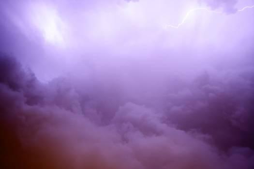 lightning purple sky  #18188