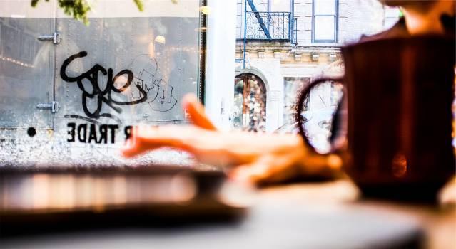 graffiti window cafe  #18235