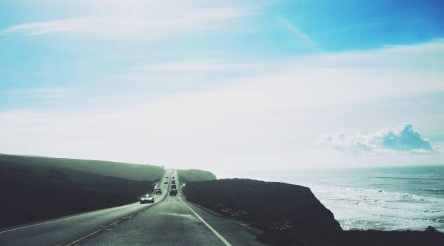 road highway cars  Free Photo