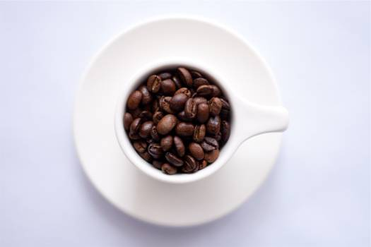 coffee beans cup plate  #18286