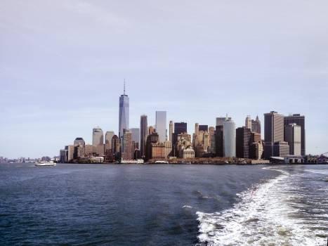 Waterfront City Skyline Free Photo
