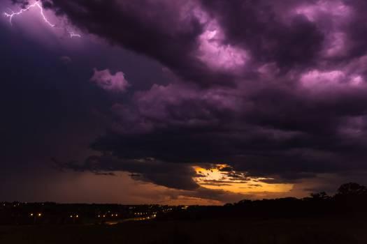 purple clouds storm  #18299