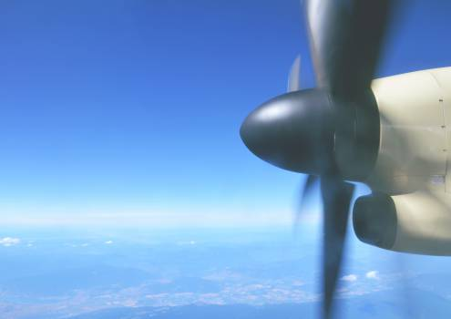 airplane propeller transportation  Free Photo