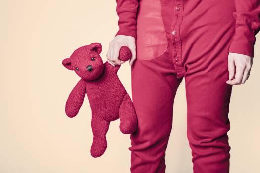 stuffed animal teddy bear red  #18384