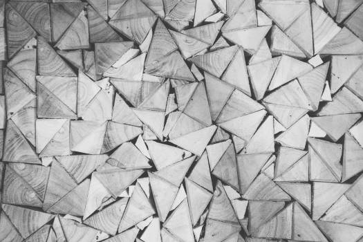 wood triangles patterns  Free Photo