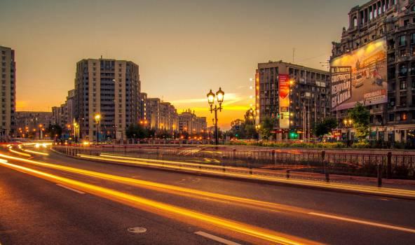 city buildings road  Free Photo