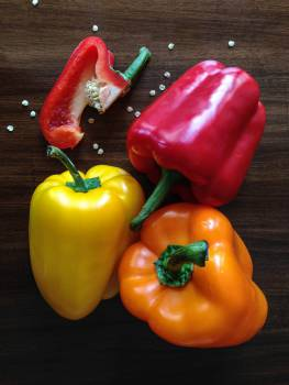 peppers vegetables red  #18456