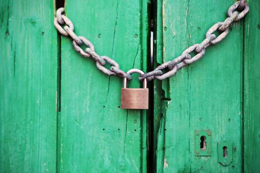 chain links padlock  #18468