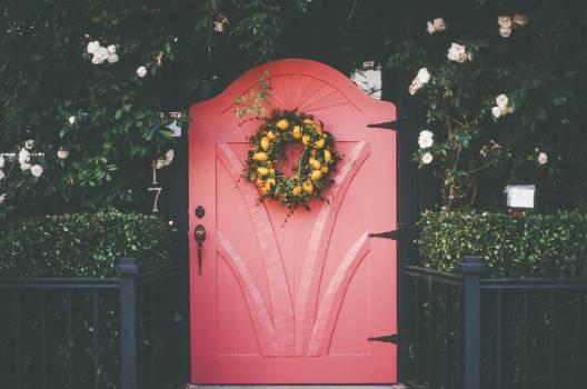 pink red door  #18476