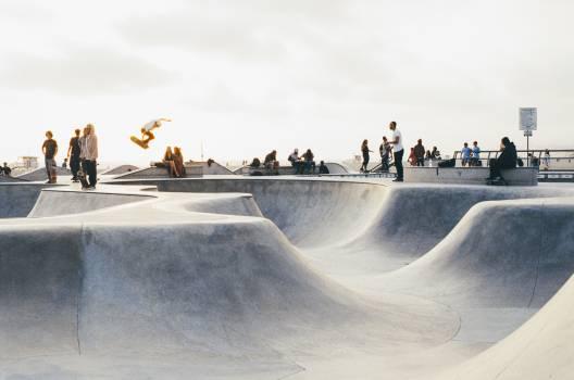 skate park half-pipes skateboarding  #18488