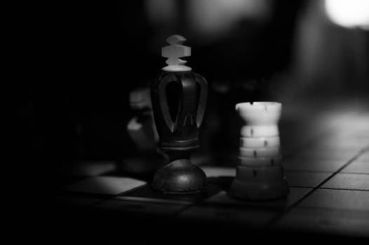 chess game black and white  #18553