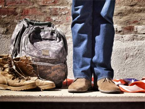 backpack shoes jeans  Free Photo