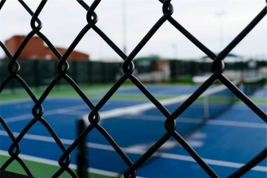 chainlink fence tennis  Free Photo