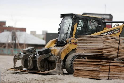 construction truck backhoe  Free Photo