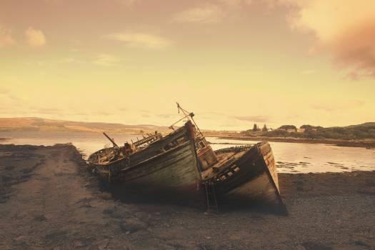 boats sunset dusk  Free Photo