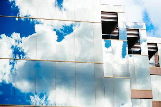 building windows reflection  Free Photo