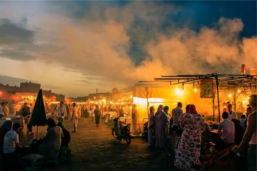 market bazaar people  Free Photo