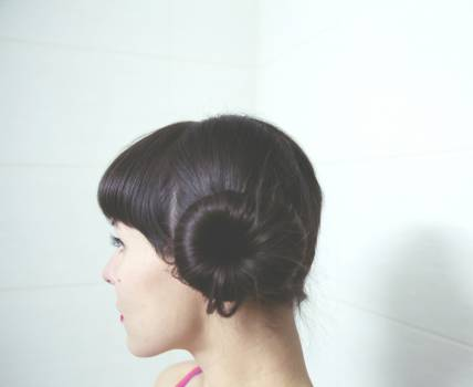 girl woman bun  #18657