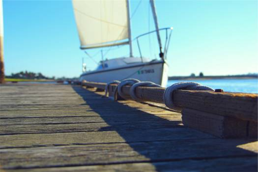 dock sailboat sunny  Free Photo