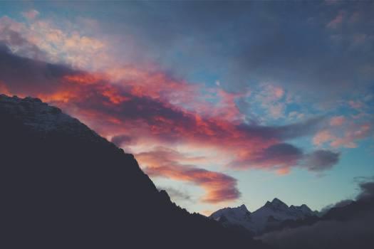 sunset dusk clouds  Free Photo