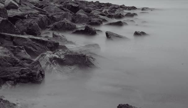 rocks boulders coast  #18728