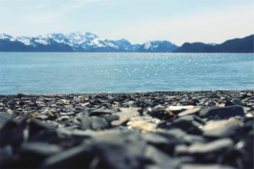 rocks lake water  Free Photo