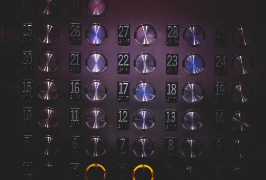 elevator buttons numbers  Free Photo
