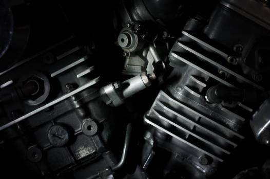engine automotive black and white  Free Photo