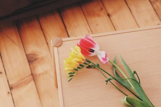 flowers wood table  #18861