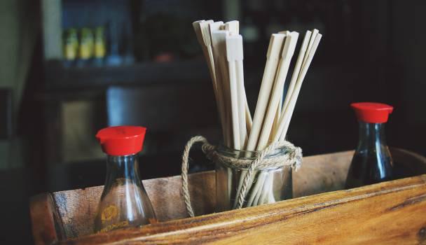 chopsticks soy sauce sushi  #18877