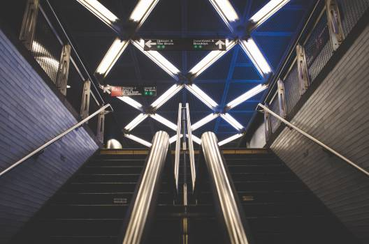 subway station steps  Free Photo