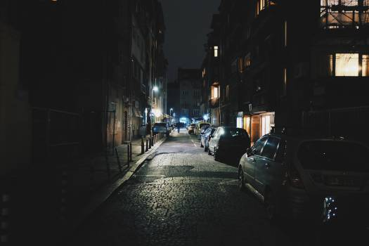 streets night dark  Free Photo