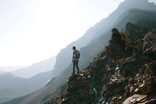 hiking trekking mountains  Free Photo