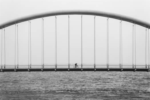 bridge architecture cyclist  Free Photo
