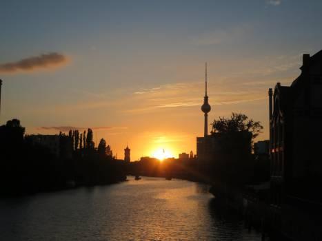 Berlin Germany sunset  Free Photo
